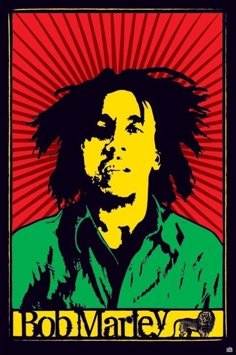 Bob Marley - rastafari Plakat
