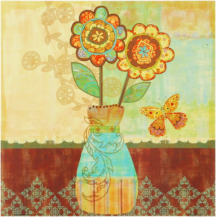 Bohemian Floral II Kunsttryk