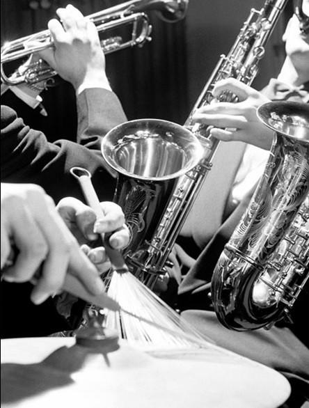 Brass and Drumsticks Kunsttryk