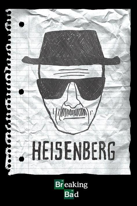 BREAKING BAD - heisenberg want Plakat
