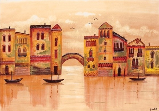 Brown Venice Kunsttryk
