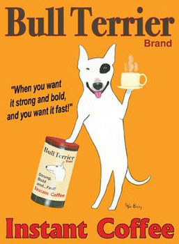 Bull Terrier Brand Kunsttryk