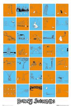 Bunny suicides Plakat
