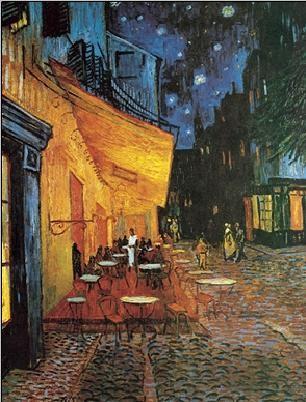 Café Terrace at Night - The Cafe Terrace on the Place du Forum, 1888 Kunsttryk