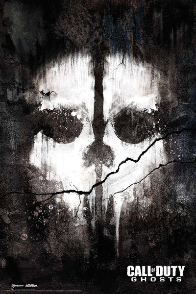 Call of Duty Ghosts - skull Plakat