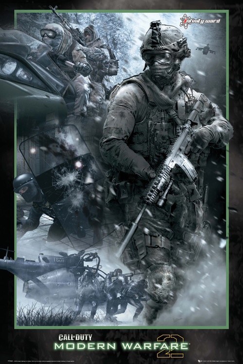 Call of Duty MW2 - collage Plakat