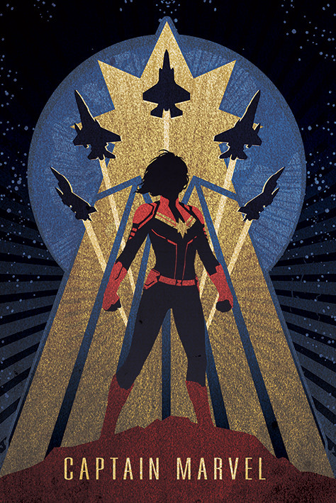 Captain Marvel - Deco Plakat