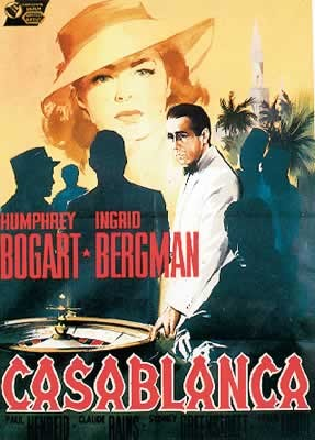 Casablanca - Humphrey Bogart, Ingrid Bergman Plakat
