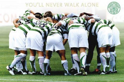 Celtic - huddle Plakat