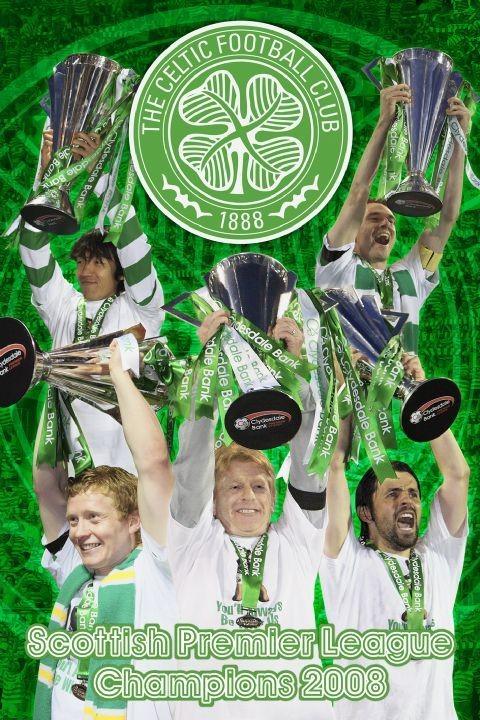 Celtic - spl champs 07/08 Plakat