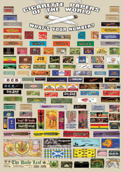 Cigarette papers of the world Plakat