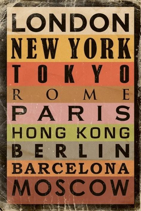 Cities Plakat