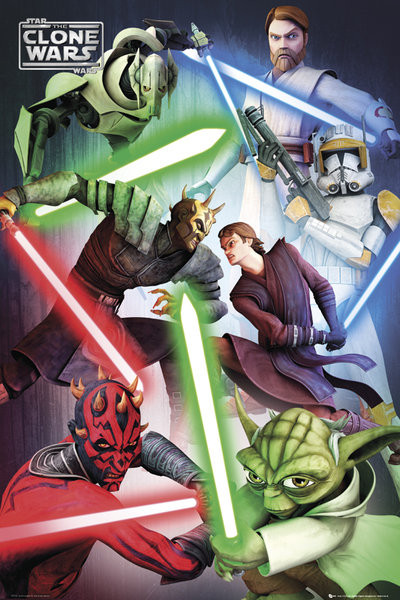 CLONE WARS - good vs evil Plakat
