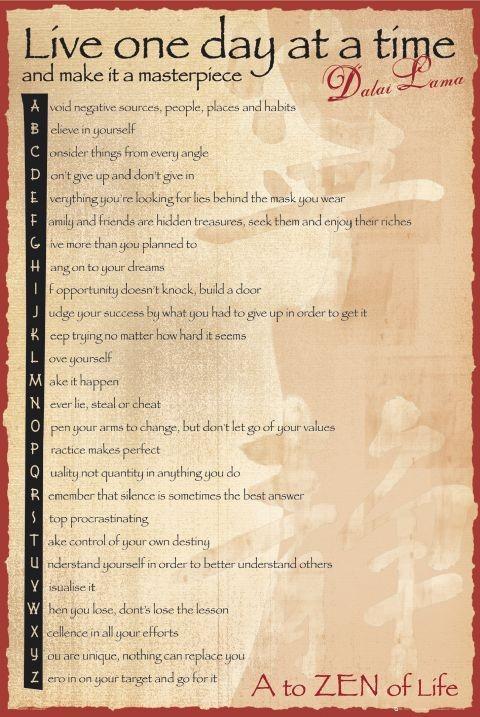 Dalai Lama - the balance Plakat