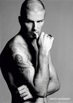 David Beckham - ring Plakat