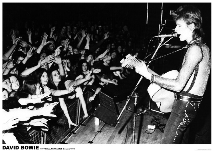 David Bowie - Newcastle 1972 Plakat