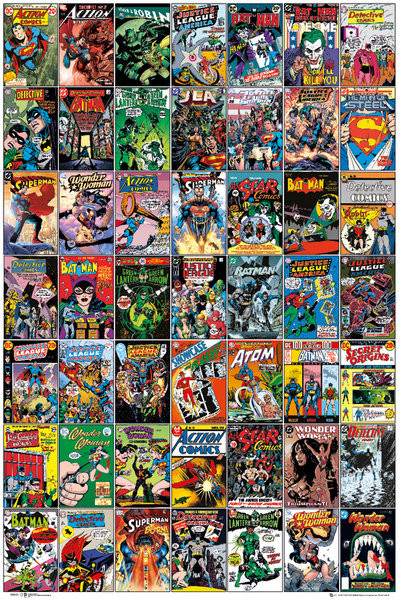 DC COMICS - comic covers Plakat