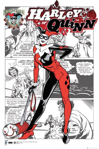 DC Comics - Harley Quinn Comic Plakat