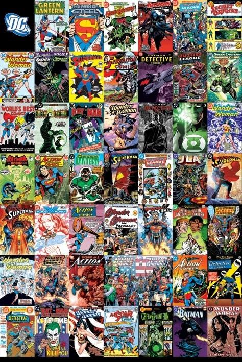 Plakat DC COMICS - montage