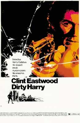DIRTY HARRY - clint eastwood Plakat