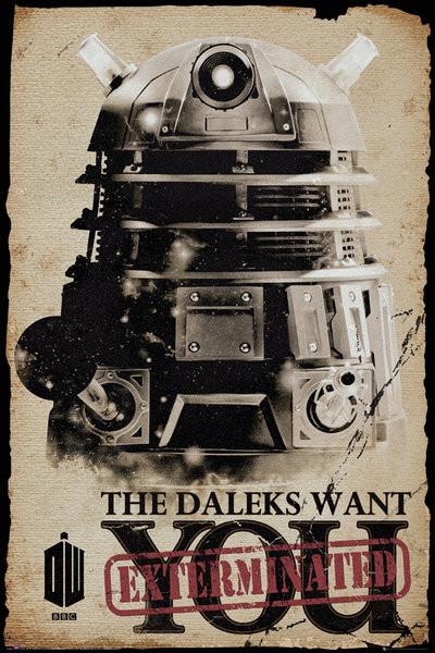 Doctor Who - Daleks Want You Plakat
