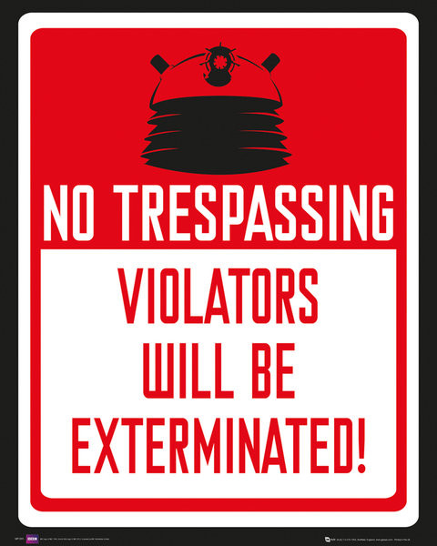 DOCTOR WHO - keep out Plakat