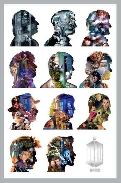 DOCTOR WHO - silhouette Plakat