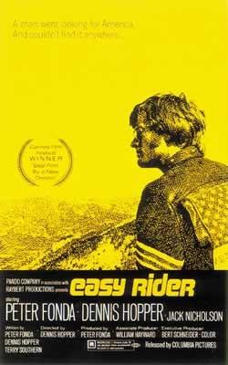 EASY RIDER - us one sheet / yellow Plakat