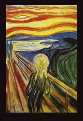 Edvard Munch - Scream  Plakat