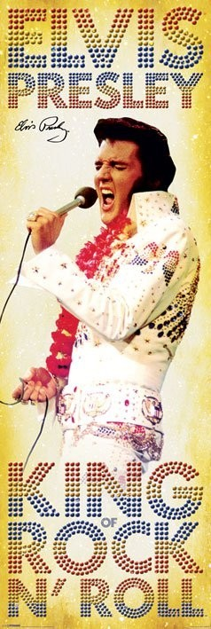Elvis Presley - king of Rock Plakat