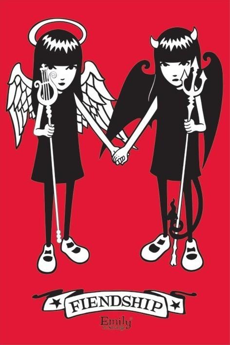 Emily the strange - friendship Plakat