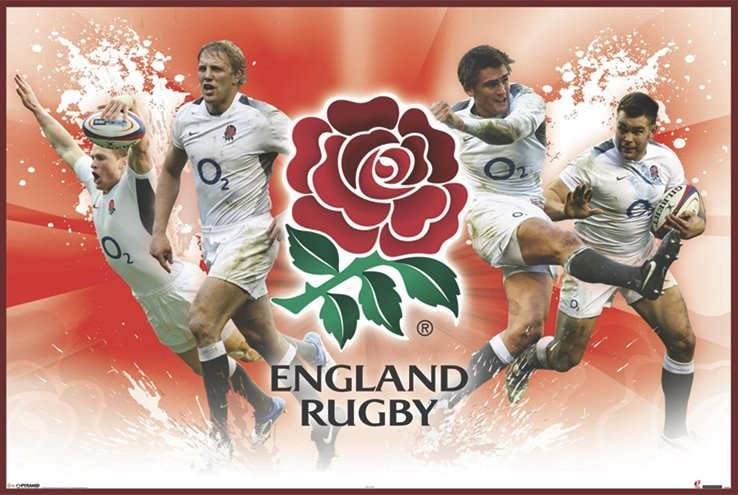 England rugby - players Plakat