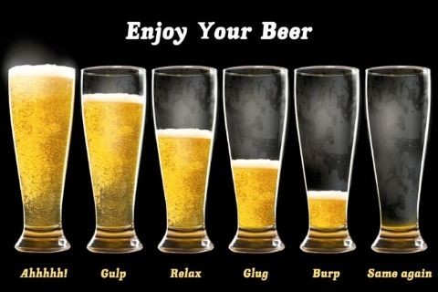 Enjouy your beer Plakat