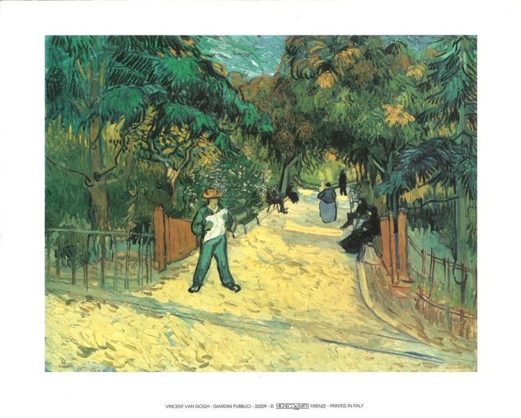 Entrance to the Public Garden in Arles, 1888 Kunsttryk