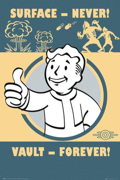 Fallout 4 - Vault Forever Plakat