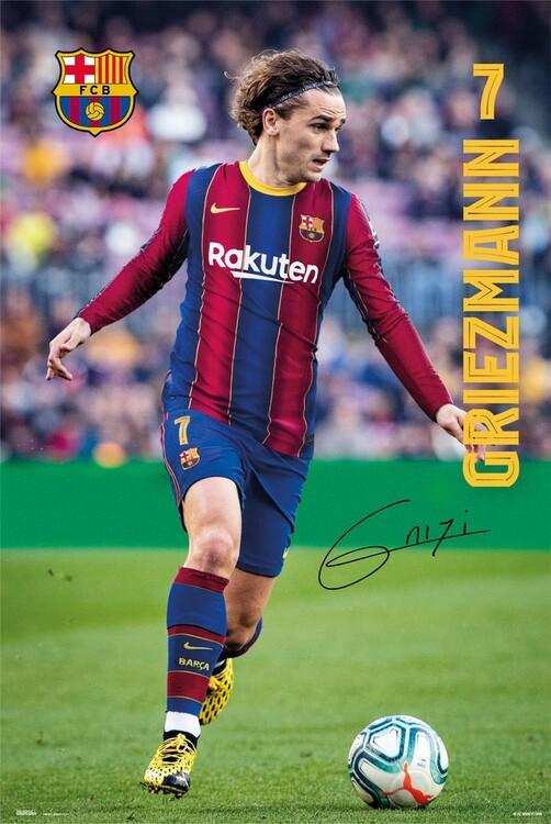 FC Barcelona - Griezmann 2020/2021 Plakat