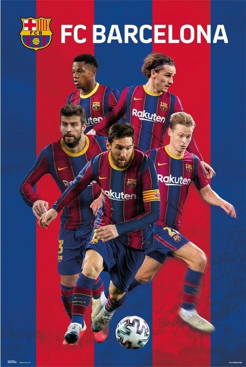 FC Barcelona - Group 2020/2021 Plakat