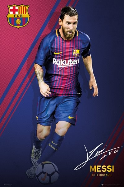 360cffda FC Barcelona - Messi 17-18 Plakat, Poster | Kjøp hos Europosters.no
