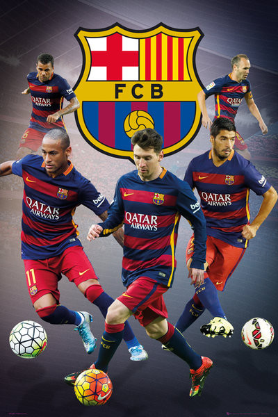 d8216133 FC Barcelona - Star Players Plakat, Poster | Kjøp hos Europosters.no