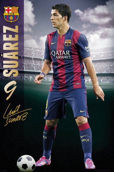 FC Barcelona - Suarez 14/15 Plakat