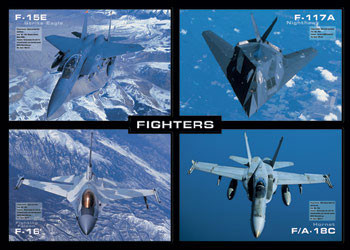 Fighters - letouny Plakat