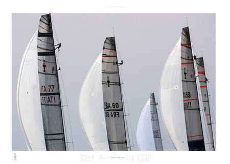 Fleet racing - 32nd America's Cup Reproduktion
