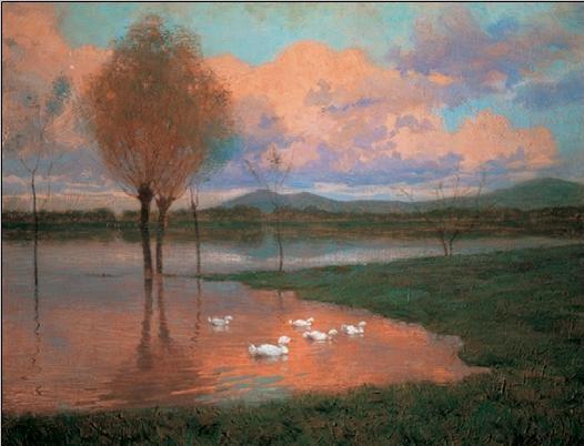 Floodplain - Flooded Land Kunsttryk