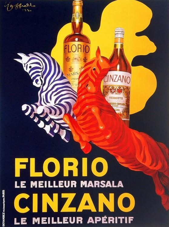 Florio e Cinzano 1930 Kunsttryk