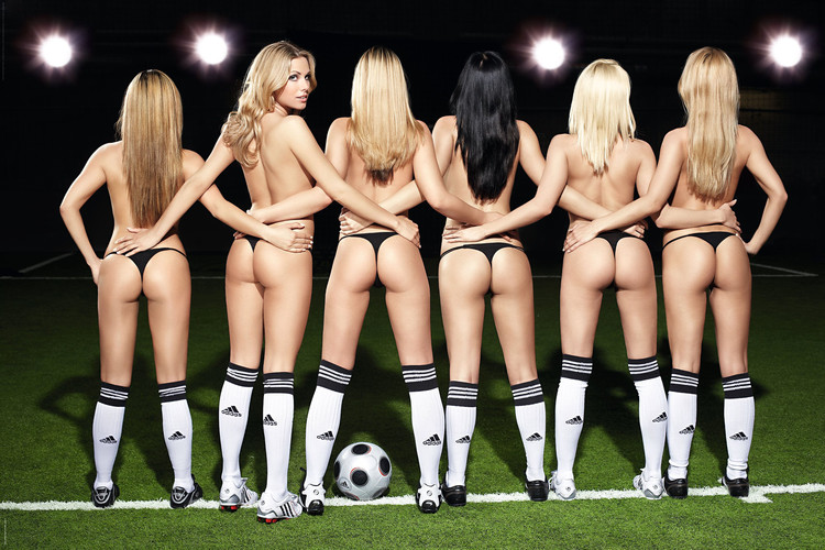 Football girls Plakat