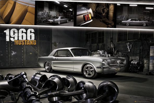 Ford Mustang - shelby 1966 Plakater