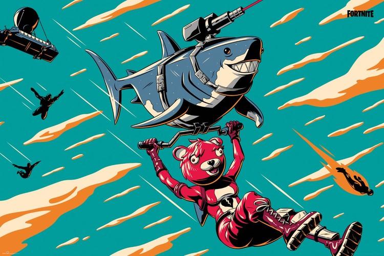 Fortnite - Laser Shark Plakat