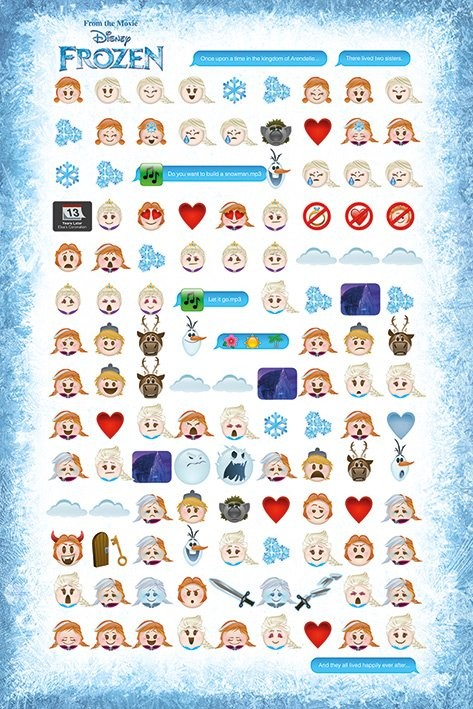 Frozen - Told by Emojis Plakat
