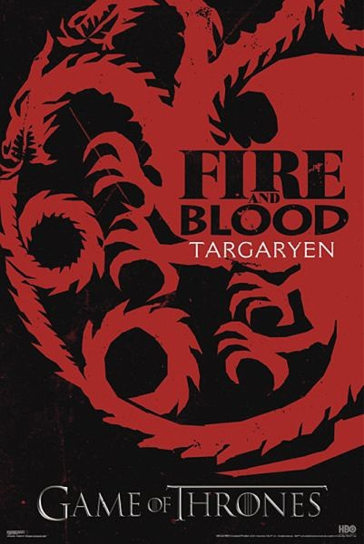GAME OF THRONES - fire & blood Plakat