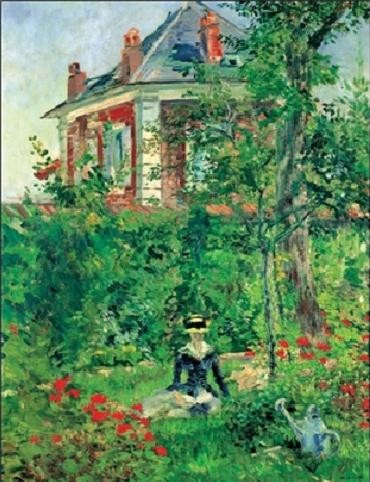 Girl In The Garden At Bellevue Kunsttryk